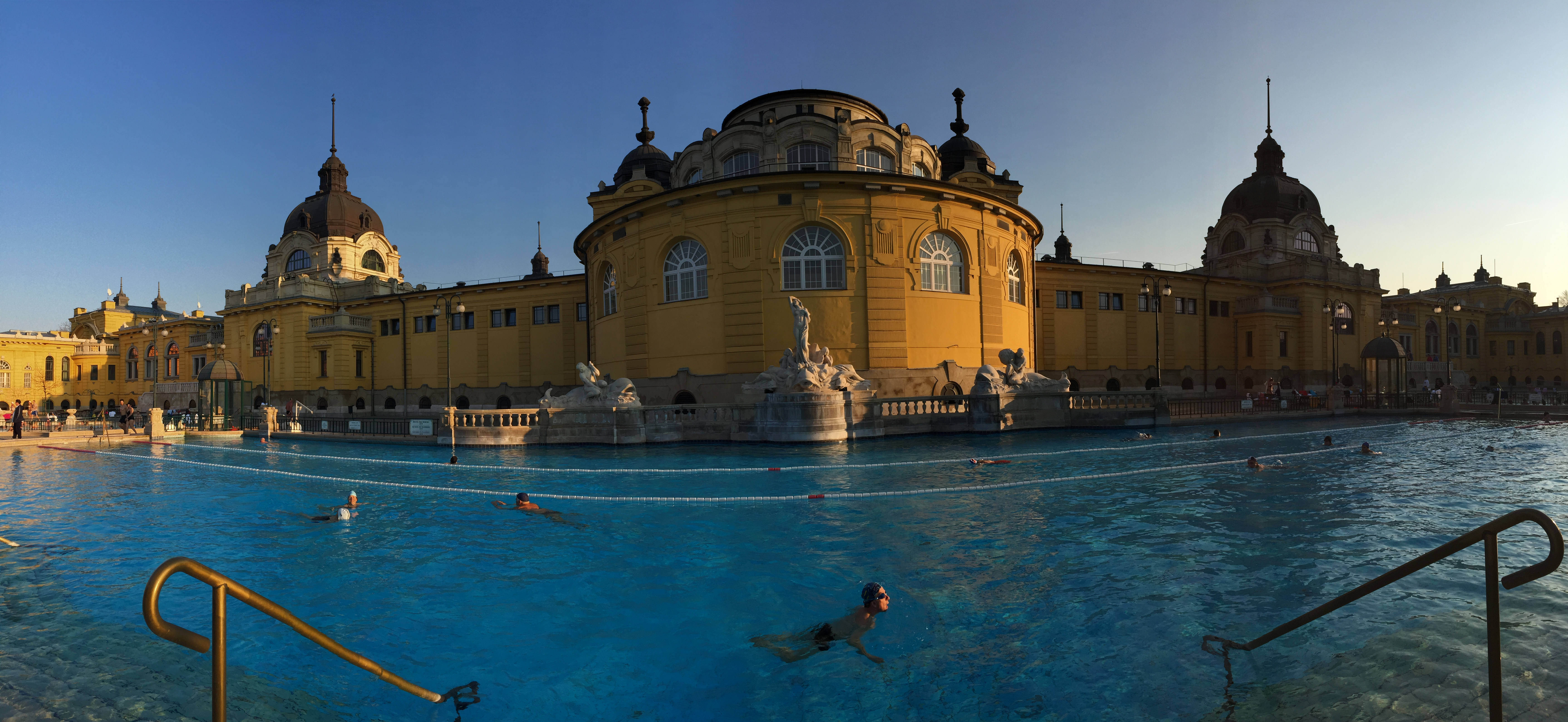 Bathing in Budapest